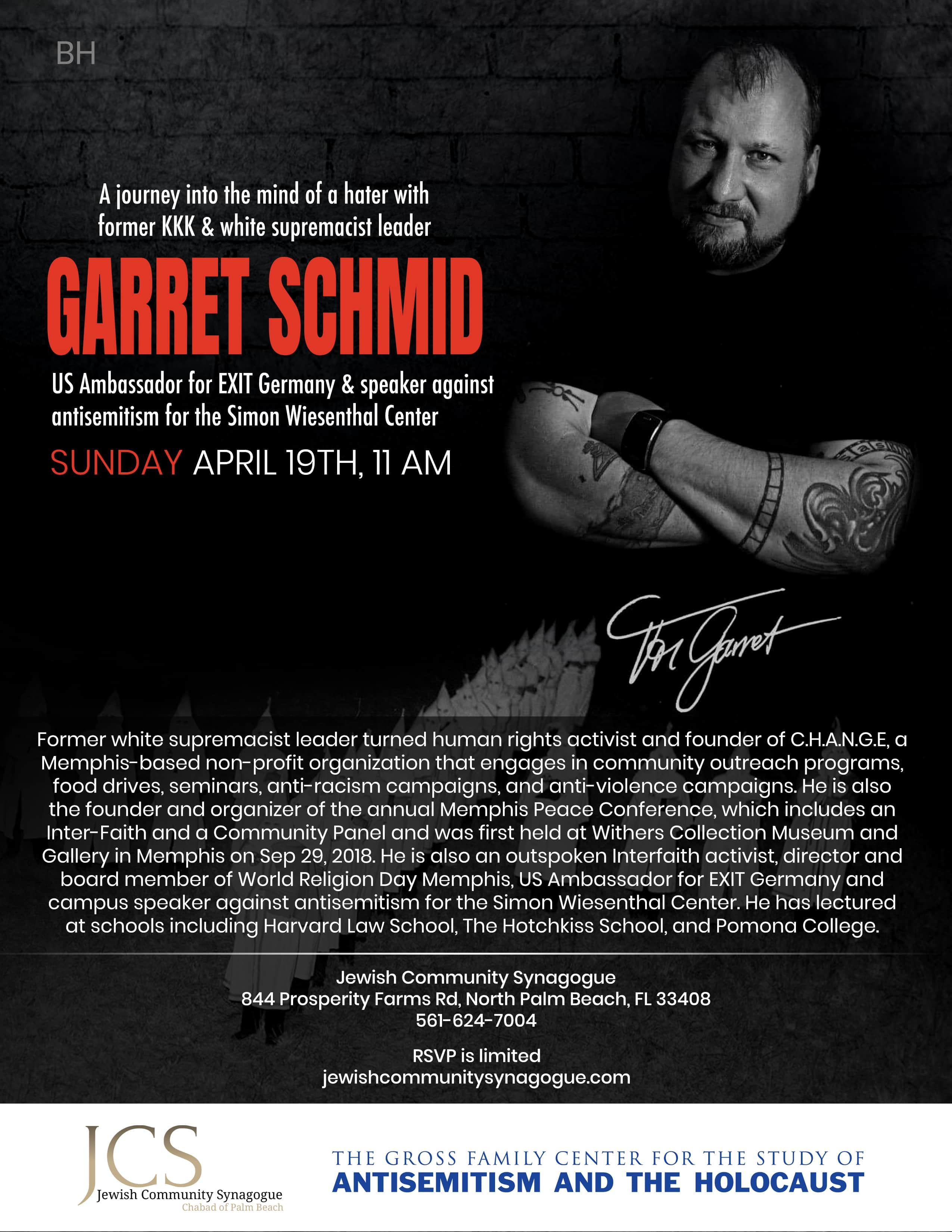 A journey into the mind of a hater with former KKK & white supremacist leader Garret Schmid